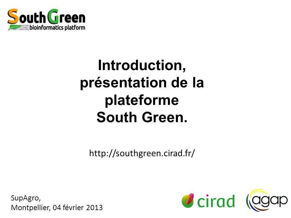 Introduction, présentation de la plateforme