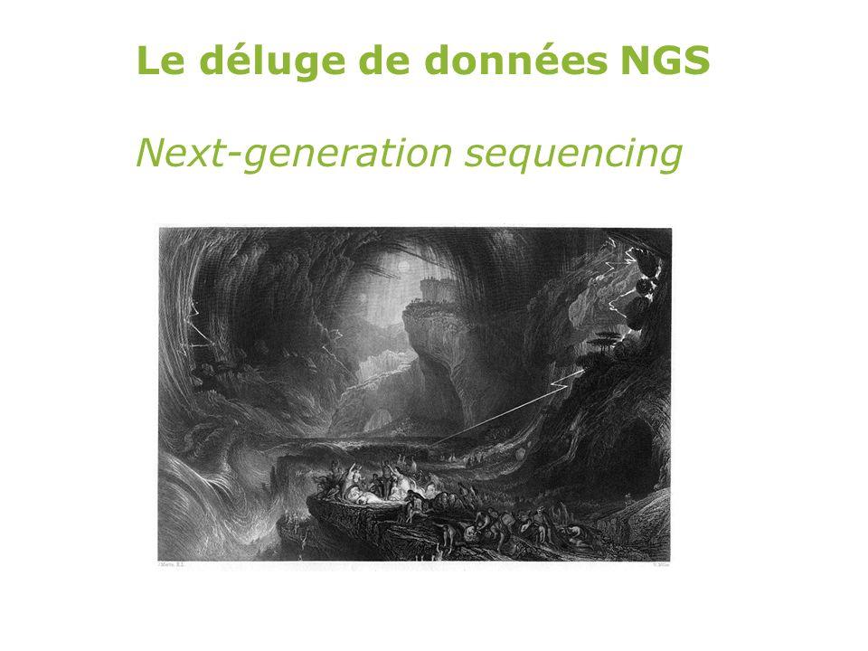 Le déluge de données NGS
