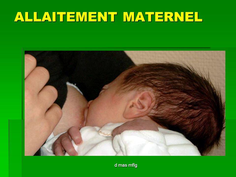 ALLAITEMENT MATERNEL d mas mflg