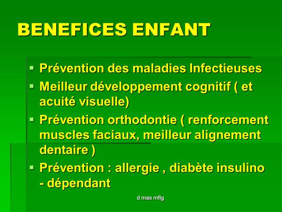 BENEFICES ENFANT Prévention des maladies Infectieuses