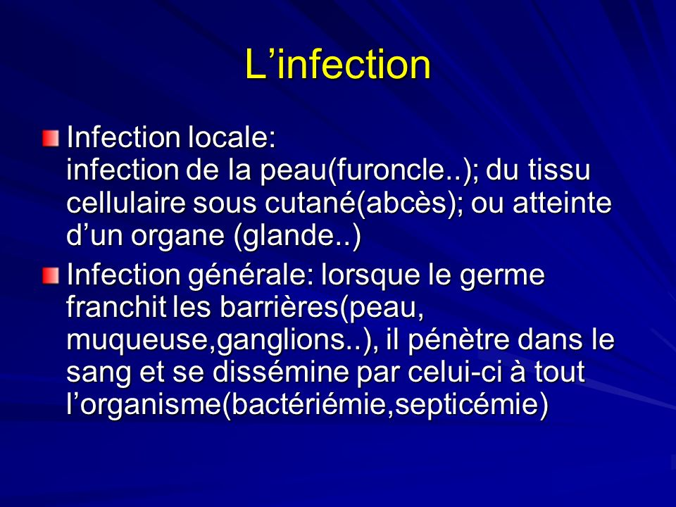 L'infection