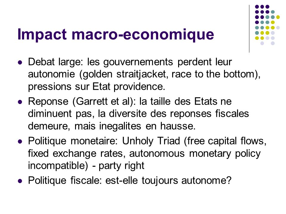 Impact macro-economique