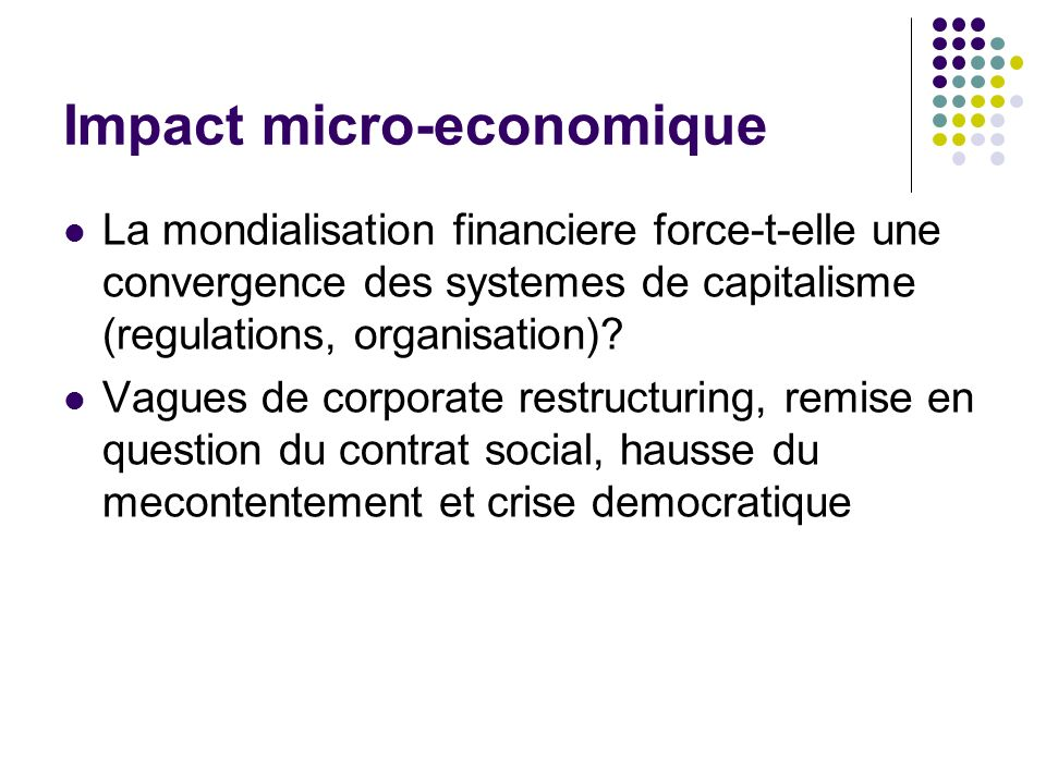 Impact micro-economique