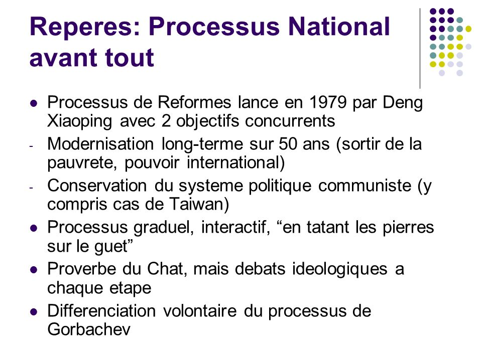 Reperes: Processus National avant tout