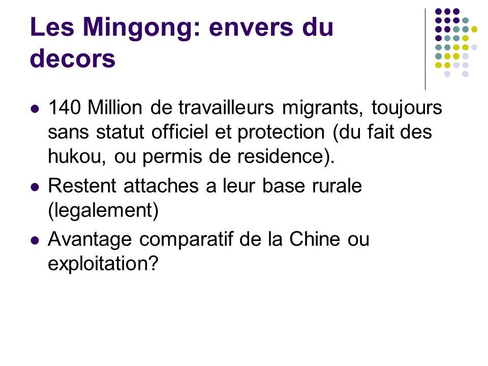 Les Mingong: envers du decors