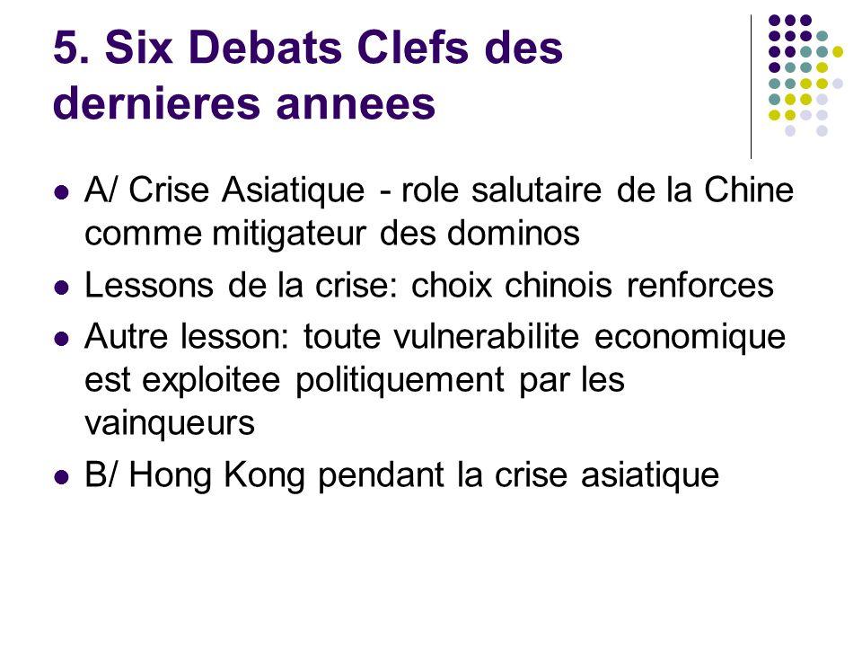 5. Six Debats Clefs des dernieres annees