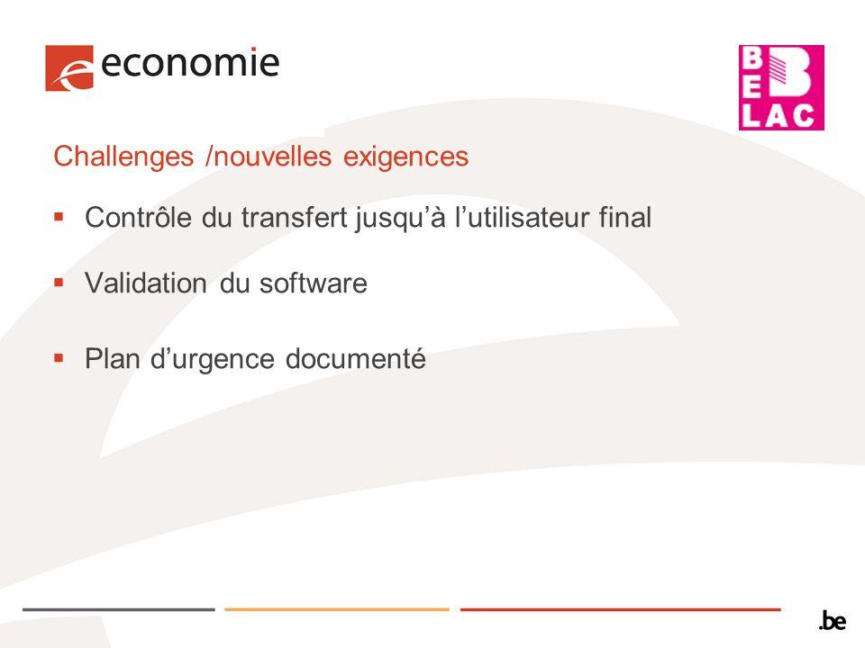 Challenges /nouvelles exigences