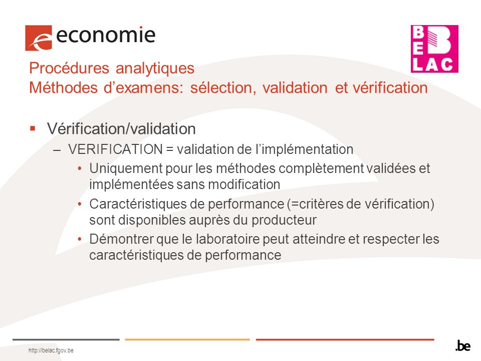 Vérification/validation