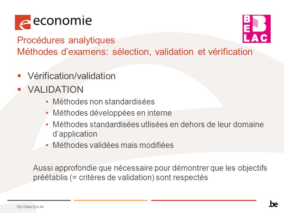 Vérification/validation VALIDATION