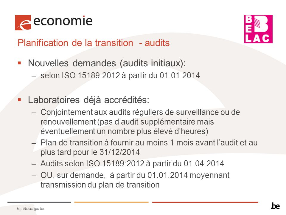 Planification de la transition - audits