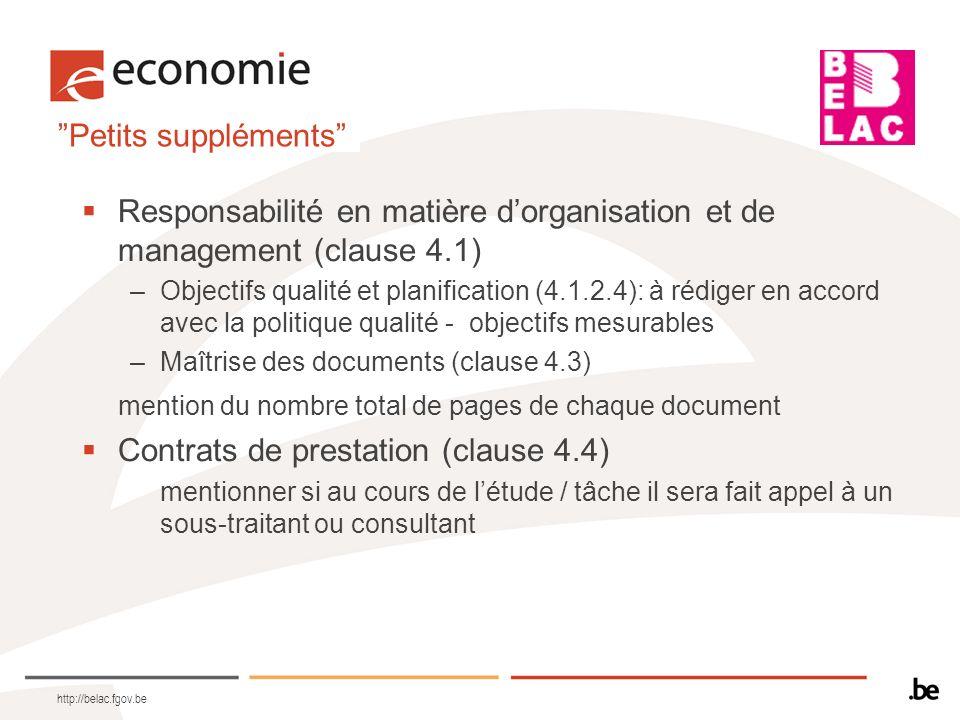 Responsabilité en matière d'organisation et de management (clause 4.1)