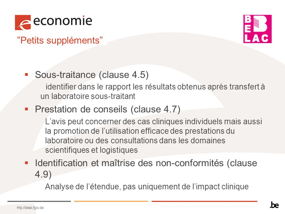 Sous-traitance (clause 4.5)