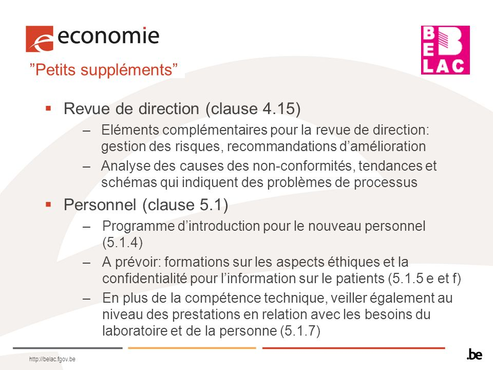 Revue de direction (clause 4.15)