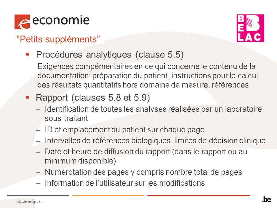 Procédures analytiques (clause 5.5)