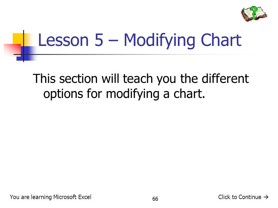 Lesson 5 – Modifying Chart
