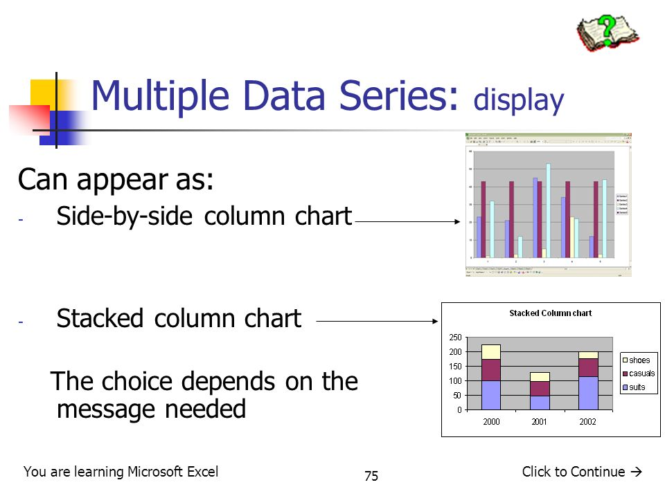 Multiple Data Series: display