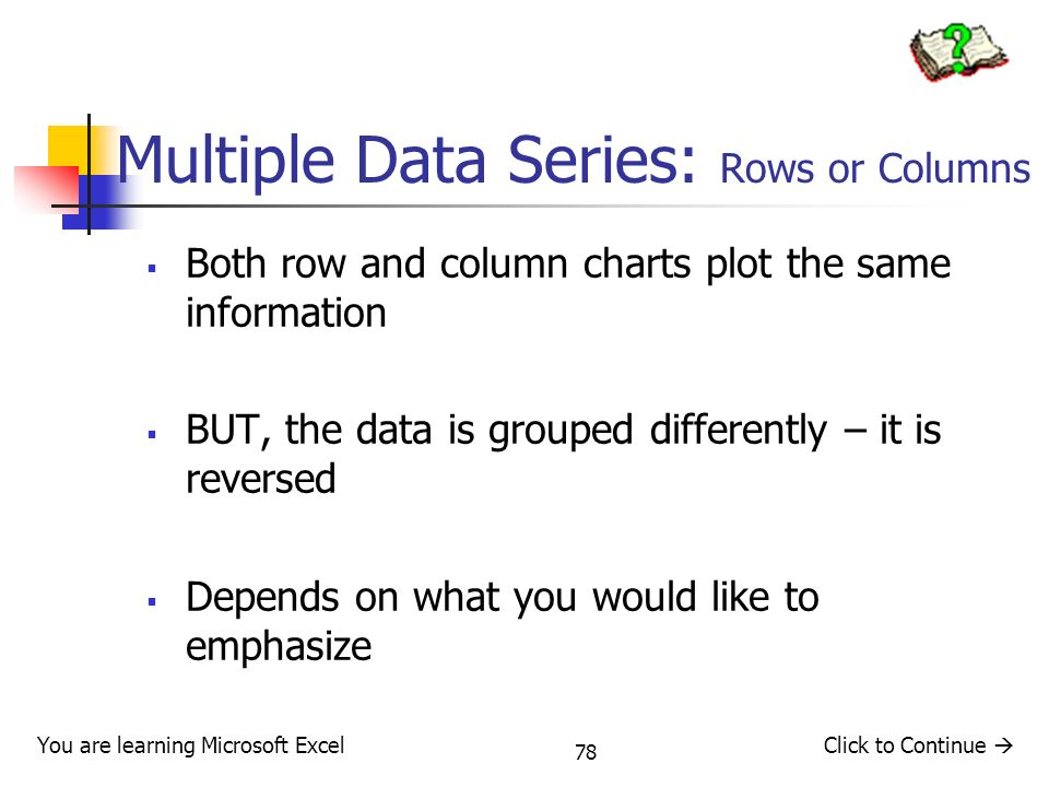 Multiple Data Series: Rows or Columns