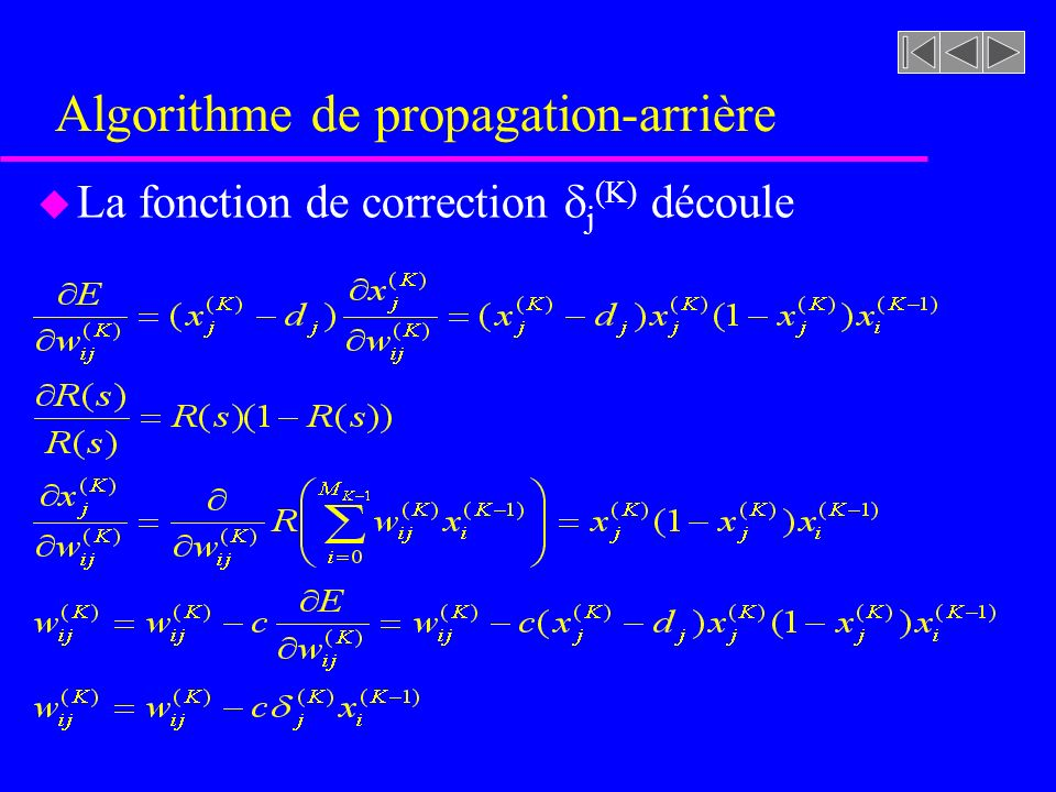 Algorithme de propagation-arrière