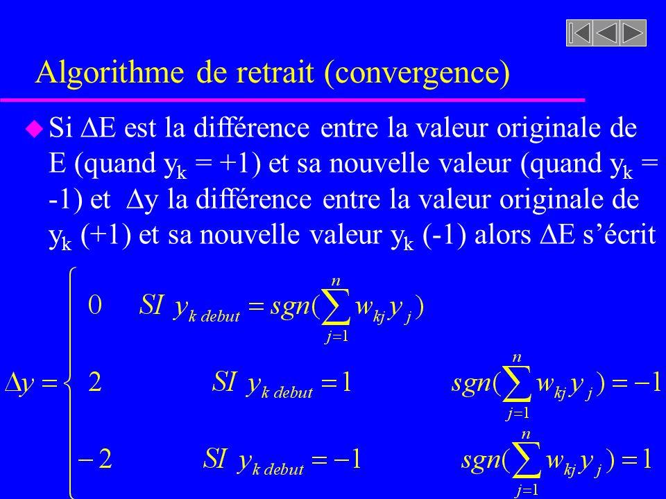 Algorithme de retrait (convergence)