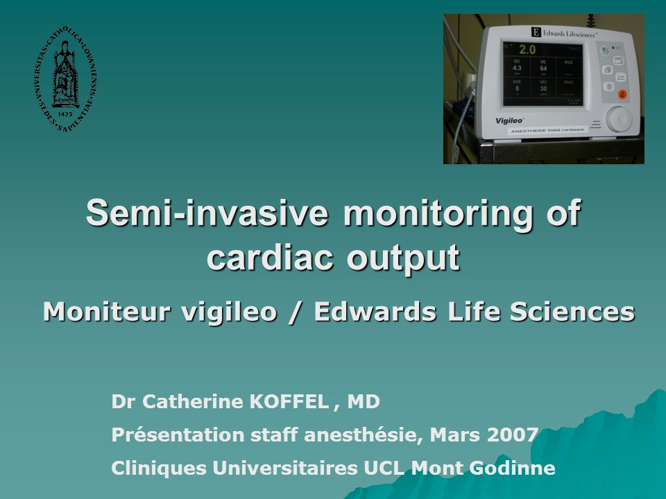 Semi-invasive monitoring of cardiac output