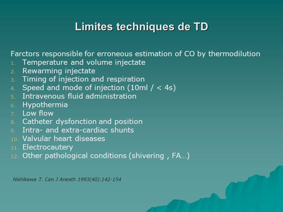 Limites techniques de TD