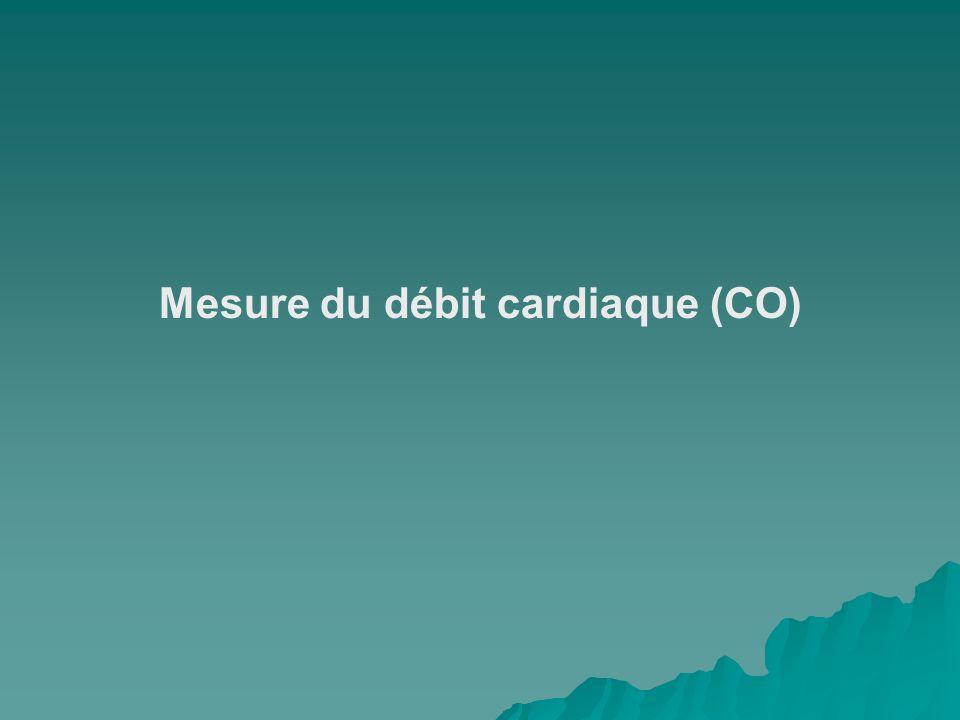 Mesure du débit cardiaque (CO)