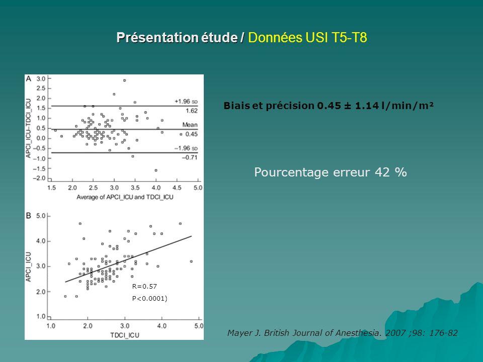 Présentation étude / Données USI T5-T8