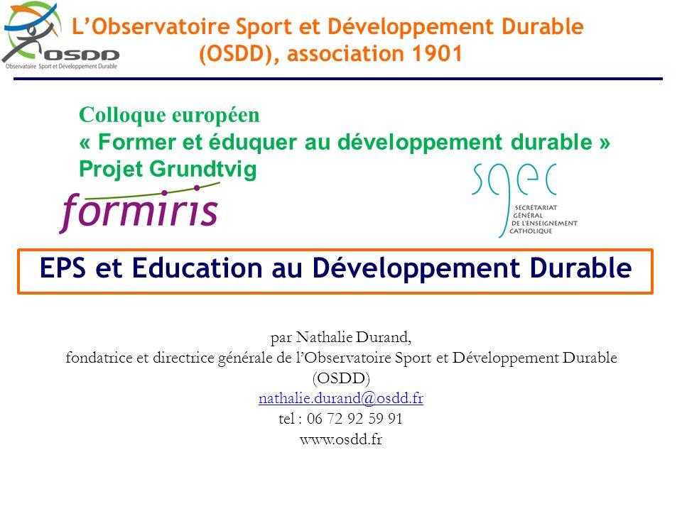 EPS et Education au Développement Durable