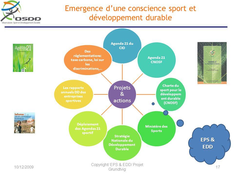 Emergence d'une conscience sport et développement durable