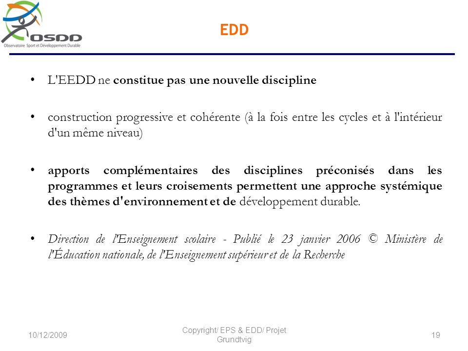 Copyright/ EPS & EDD/ Projet Grundtvig