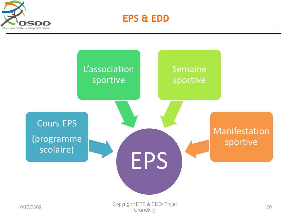 EPS & EDD Copyright/ EPS & EDD/ Projet Grundtvig 10/12/2009 EPS