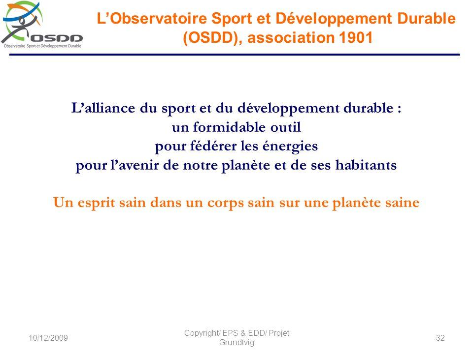 L'Observatoire Sport et Développement Durable