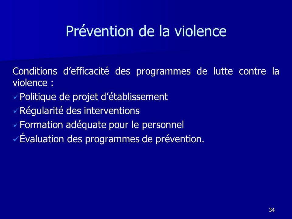Prévention de la violence
