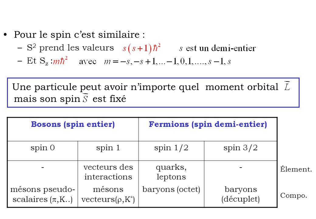 Fermions (spin demi-entier)