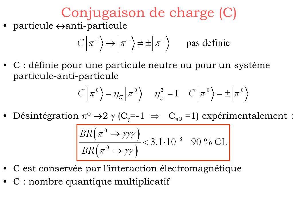 Conjugaison de charge (C)