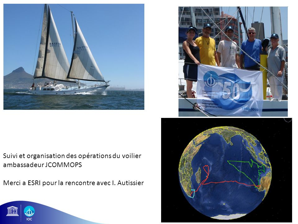 Suivi et organisation des opérations du voilier ambassadeur JCOMMOPS