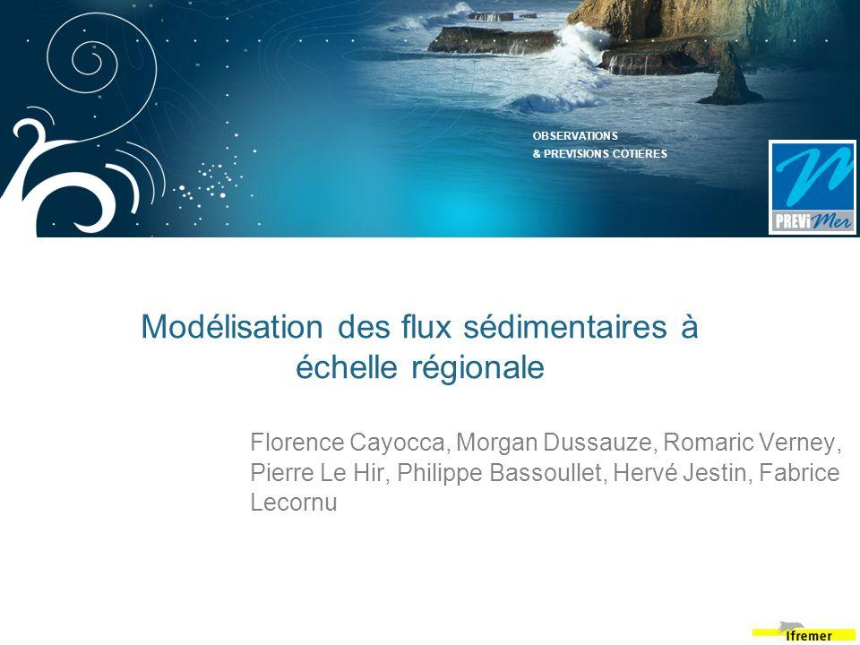 Modélisation des flux sédimentaires à échelle régionale