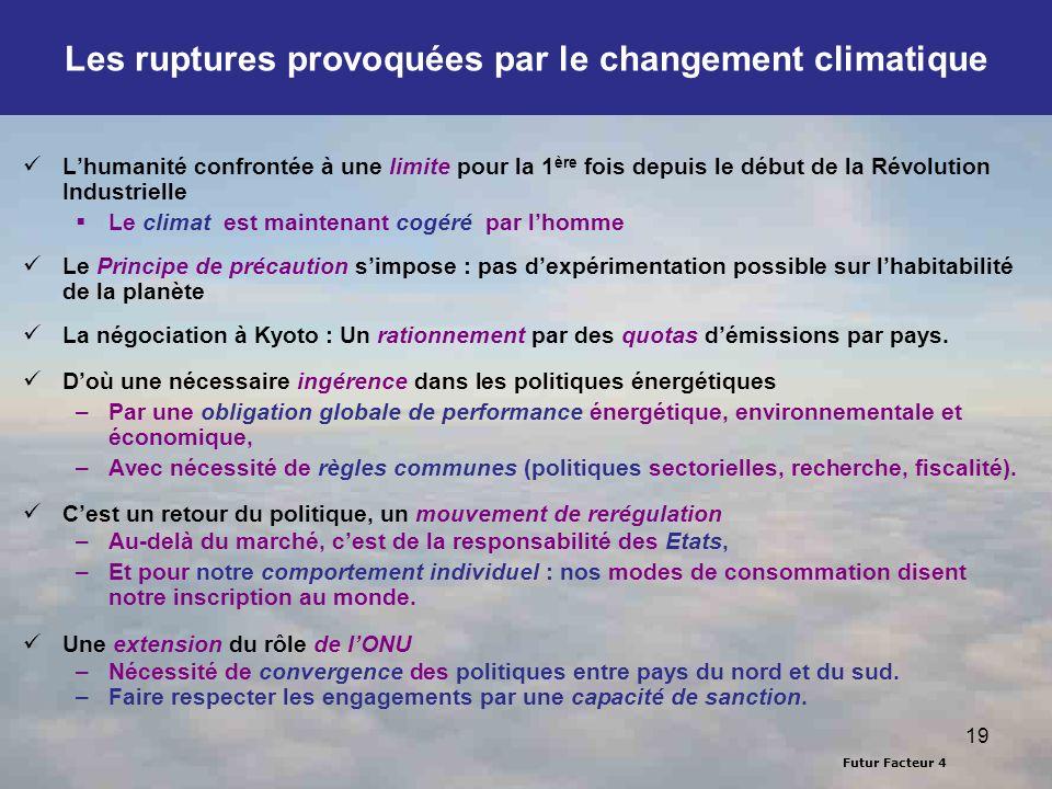 Les ruptures provoquées par le changement climatique