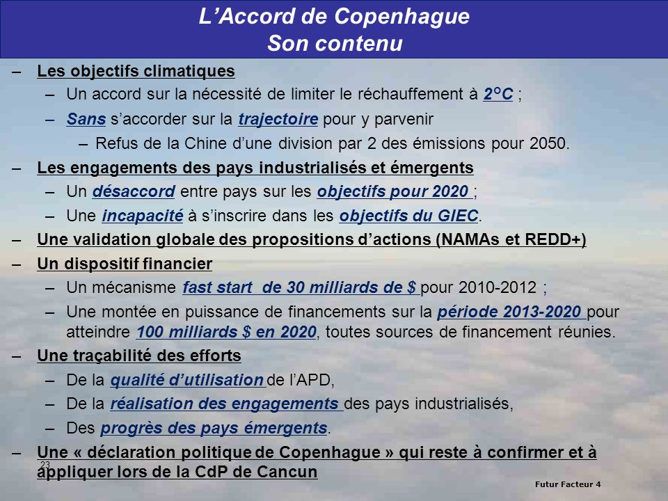 L'Accord de Copenhague Son contenu
