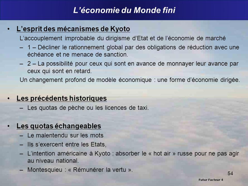 L'économie du Monde fini