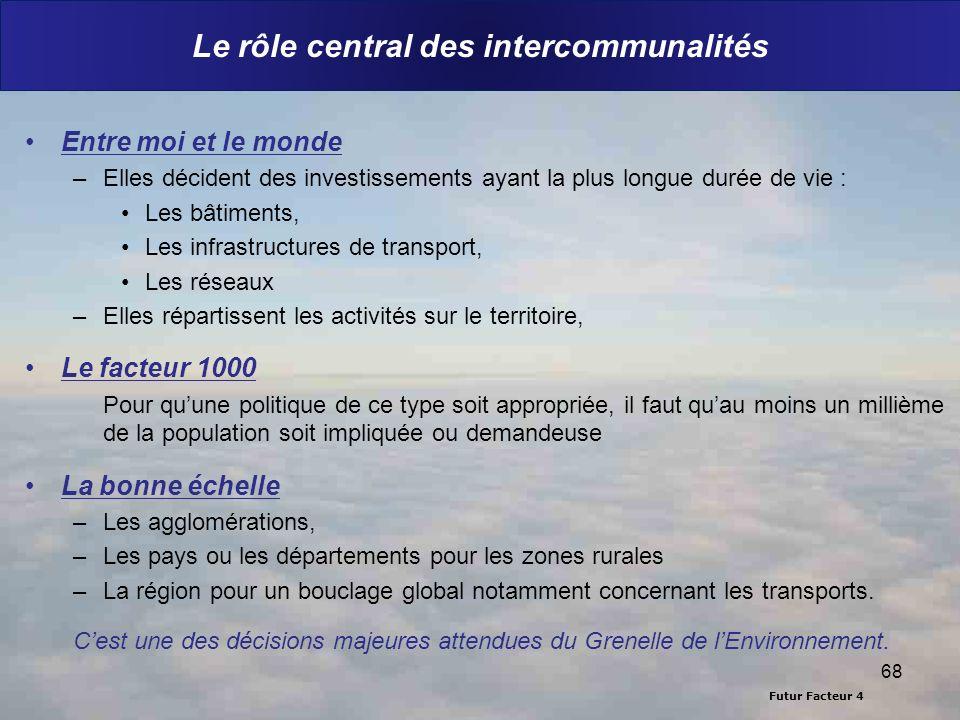 Le rôle central des intercommunalités