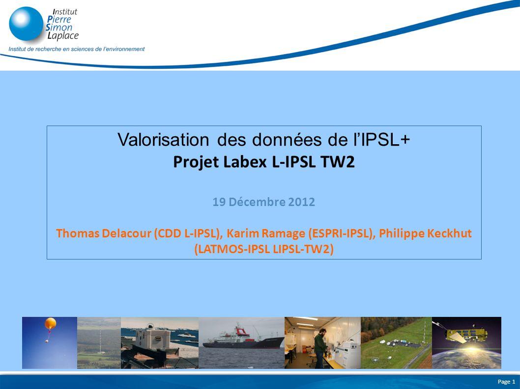 Valorisation des données de l'IPSL+