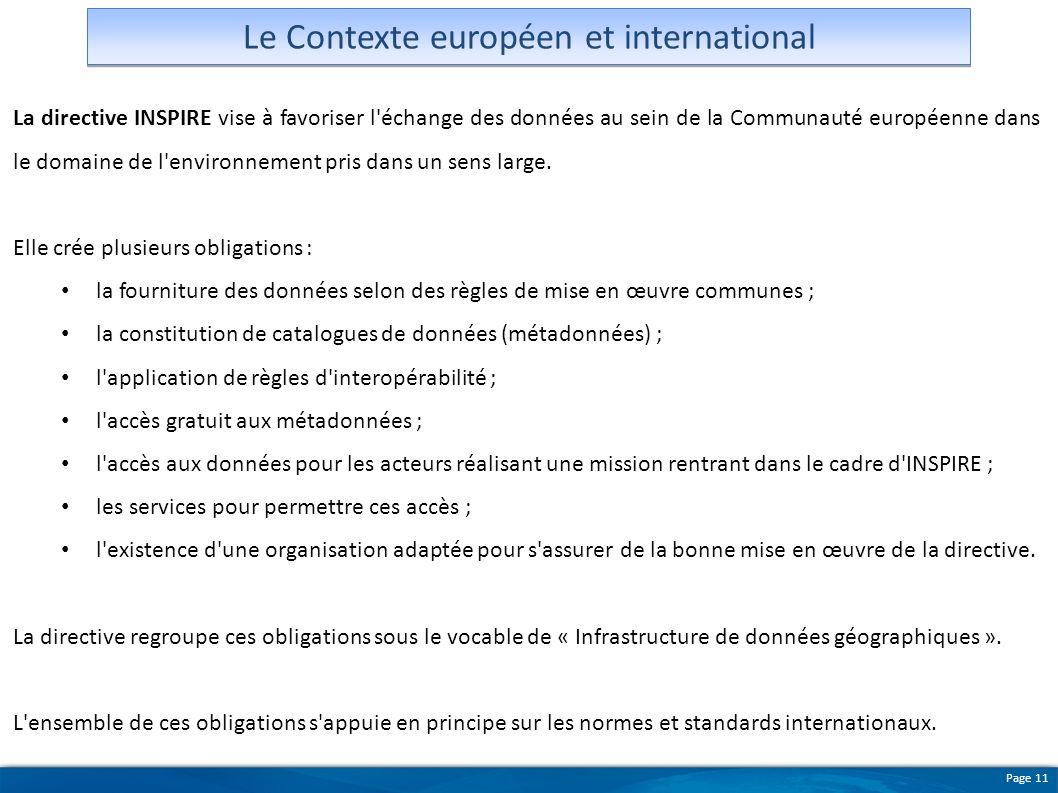Le Contexte européen et international