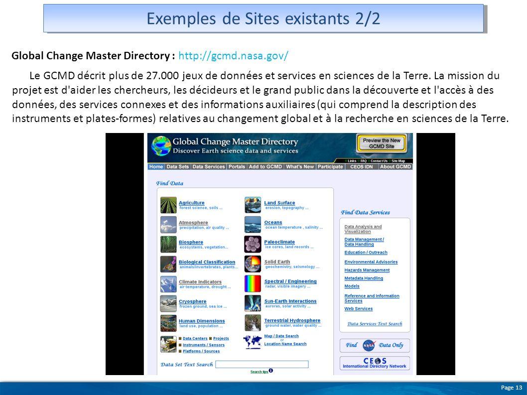 Exemples de Sites existants 2/2