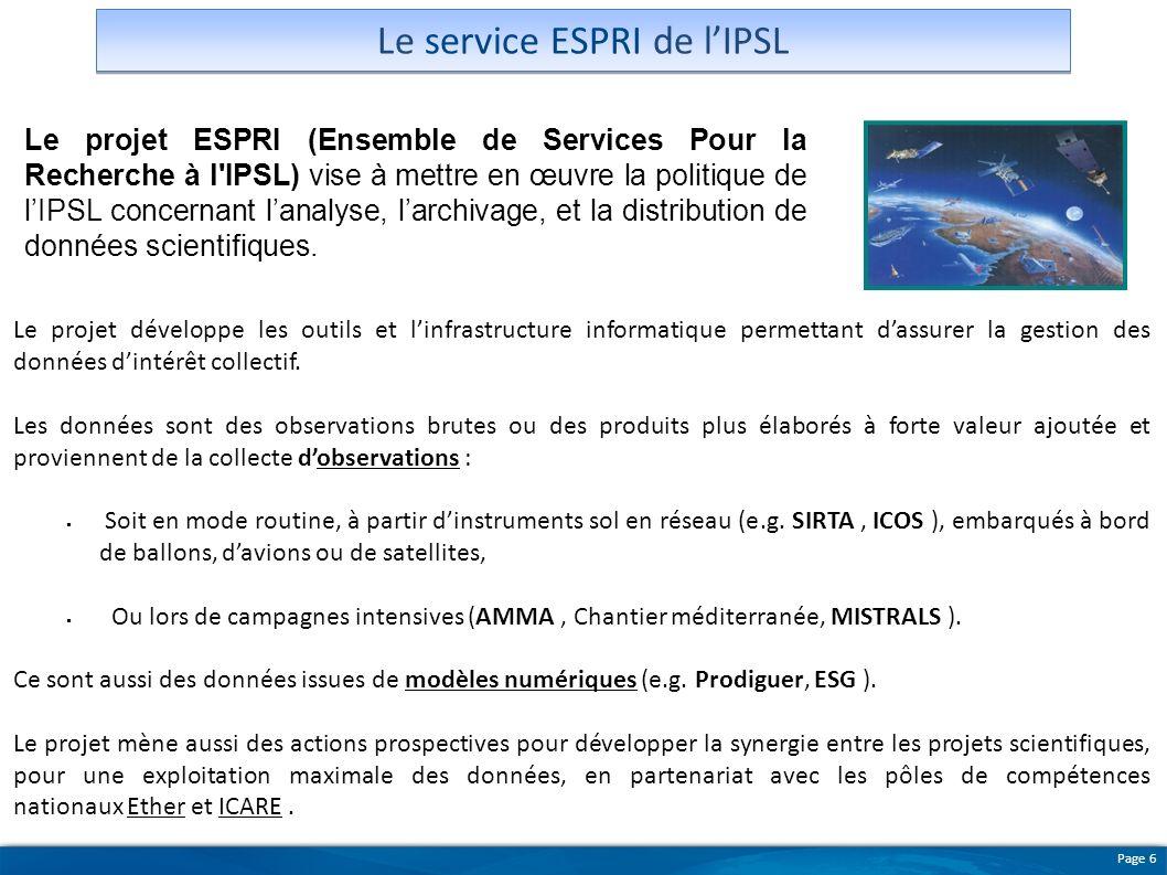 Le service ESPRI de l'IPSL