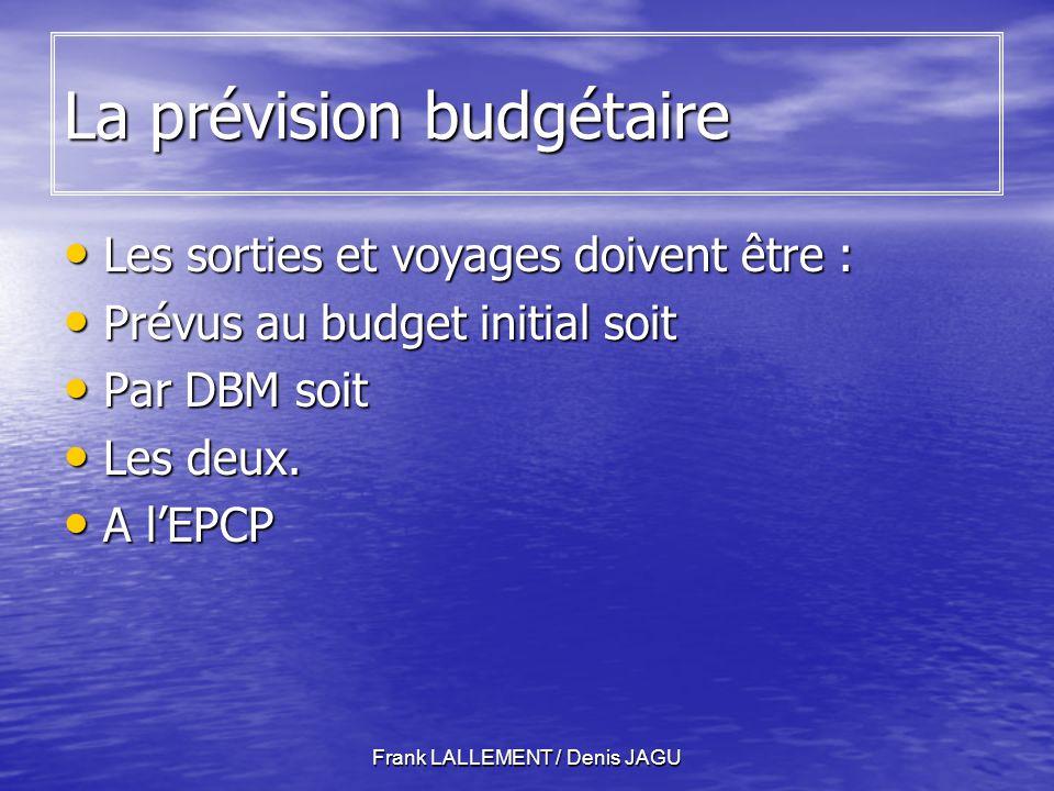 La prévision budgétaire
