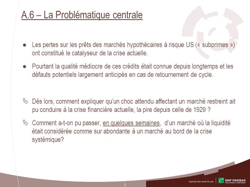 A.6 – La Problématique centrale