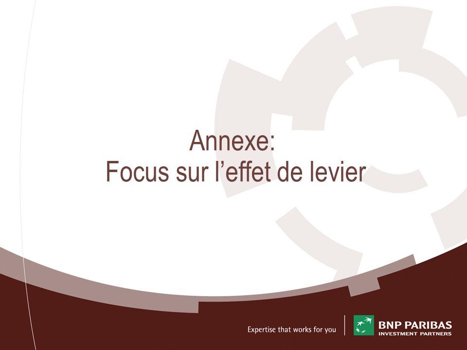 Annexe: Focus sur l'effet de levier