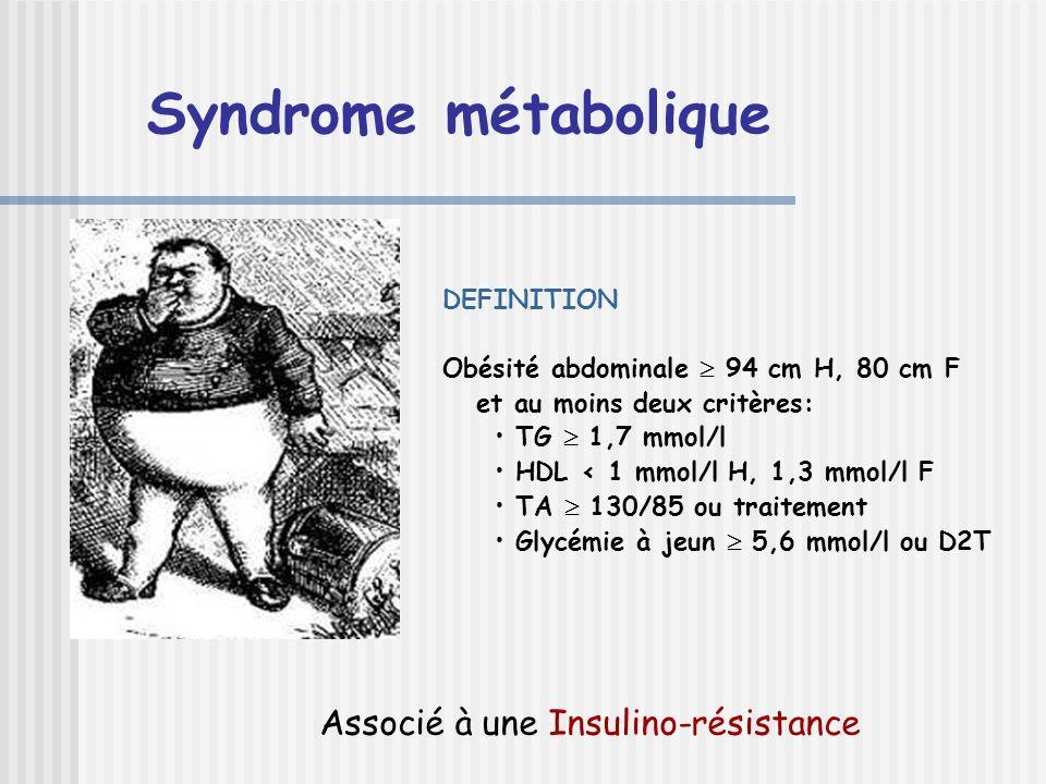 Syndrome métabolique Associé à une Insulino-résistance DEFINITION