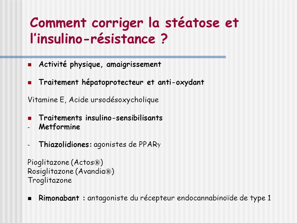 Comment corriger la stéatose et l'insulino-résistance